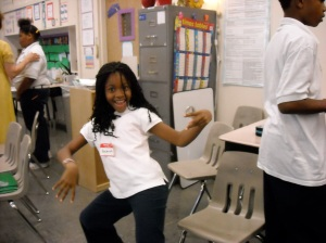 Dancing out her understanding!!